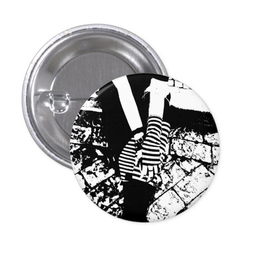 punk hearted pinback button
