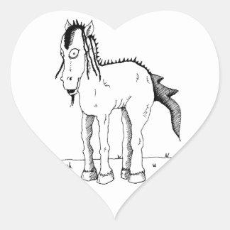 Punk horse creature heart sticker