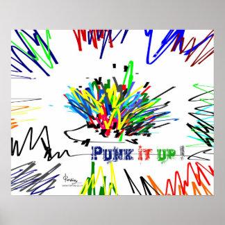 Punk it up hedgehog poster