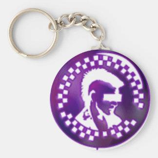 Punk keycain basic round button keychain