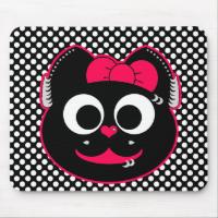 Punk KiKi Kitty Mouse Pad