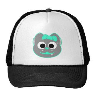 Punk kitty Green - Gray Trucker Hat