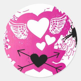 Punk Love Round Stickers