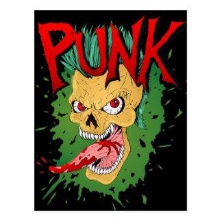Punk Mohawk Skulled Rocker Postcard