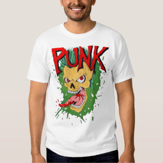 Punk Mohawk Skulled Rocker T-Shirt