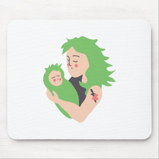 Punk Mom and Baby Mouse Pad