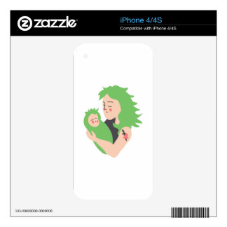 Punk Mom and Baby Skin For iPhone 4S