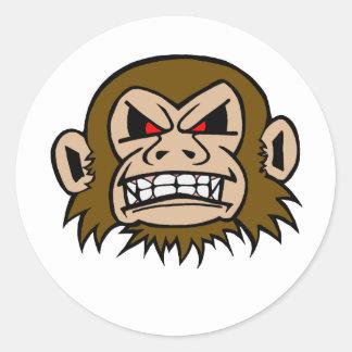 Punk Monkey Classic Round Sticker
