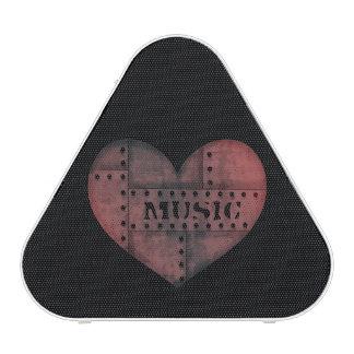 Punk music heart speaker