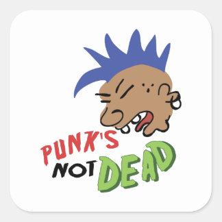 Punk no muerto pegatinas cuadradas