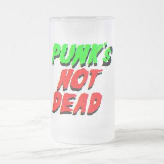 ¡Punk no muerto! Taza Cristal Mate