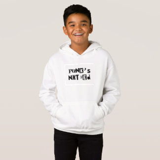 punk not fed funny text message baby kid children hoodie