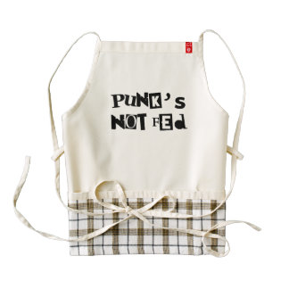 punk not fed funny text message baby kid children zazzle HEART apron