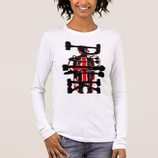 punk on cyberpunk, side long sleeve T-Shirt