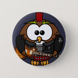 Punk owl button