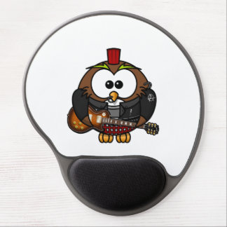 Punk Owl With Guitar Gel Mouse Pad