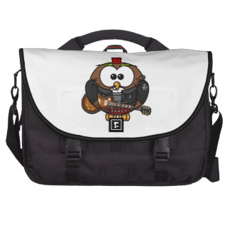 Punk Owl With Guitar Laptop Commuter Bag