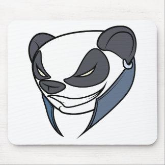 Punk panda mouse pad