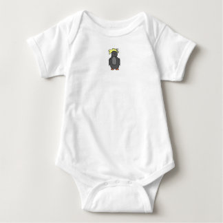 Punk Penguin with Yellow Hair Baby Bodysuit