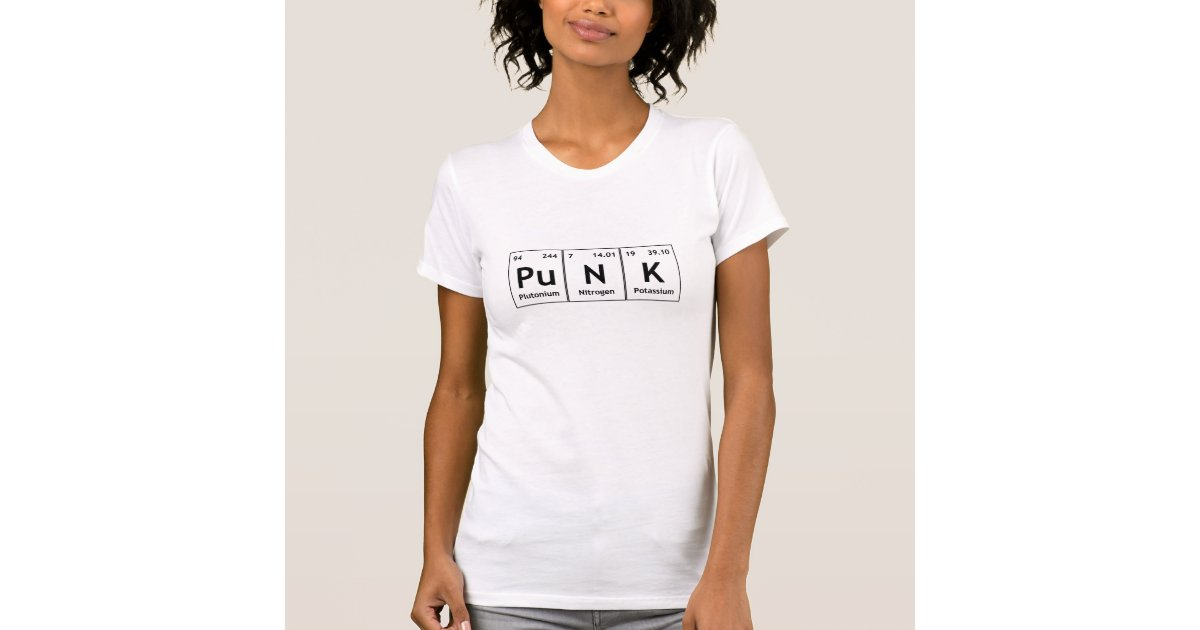 Chemistry elements symbols words gifts on zazzle punk periodic table element word chemistry symbols t shirt urtaz Gallery