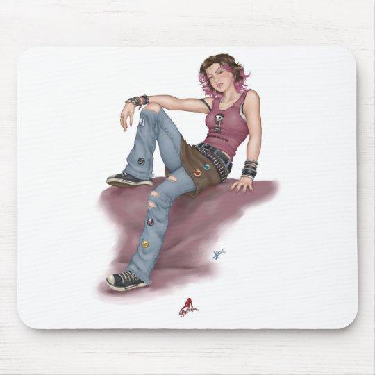 Punk Pin Up Girl Mouse Pad