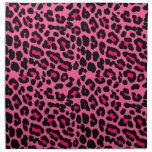Punk  Pink Leopard Print Cloth Napkin