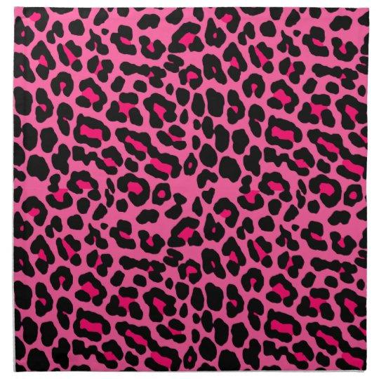 Punk Pink Leopard Print Napkin | Zazzle.com