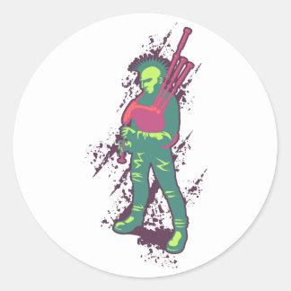 Punk Piper Classic Round Sticker