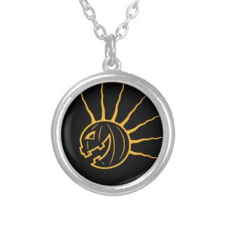 Punk Pkin Round Pendant Necklace