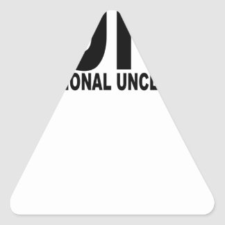 Punk Professional Uncle No Kids T-Shirts.png Triangle Sticker