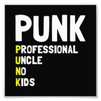 Punk Professional Uncle Photo Print