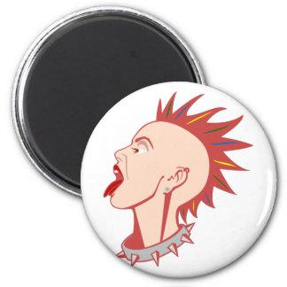Punk punk punk girl magnet