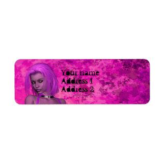 Punk rave fantasy woman label