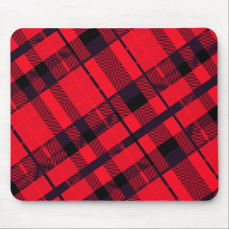 Punk Red Plaid Mouse Pad