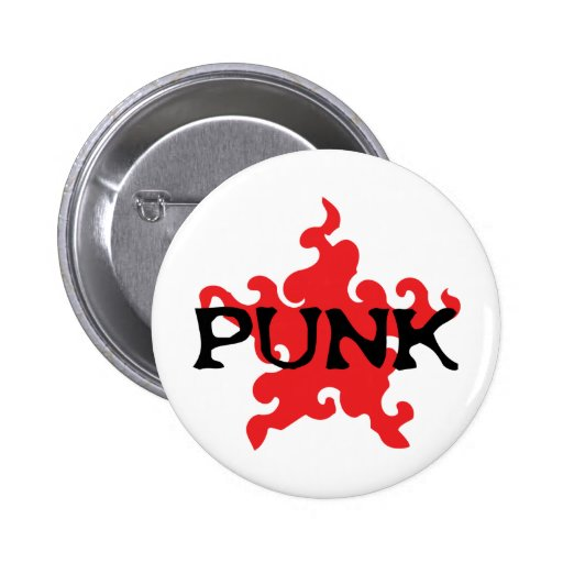punk red star buttons