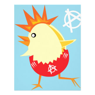 punk rock anarchy easter chick letterhead