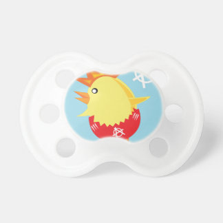 punk rock anarchy easter chick pacifier