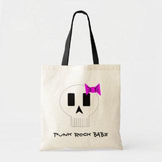 Punk Rock Babe Skull Tote Bag