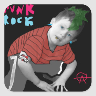 Punk Rock Baby Square Sticker
