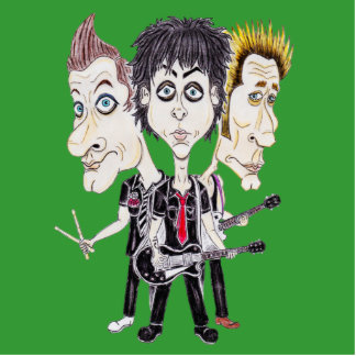 Punk Rock Band Funny Caricature Drawing Sculpture
