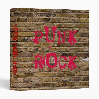 Punk Rock Brick Wall Binder