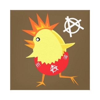 Punk Rock Chicken Canvas Print