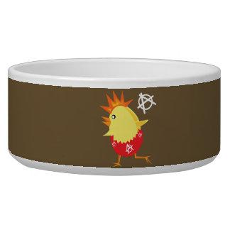 Punk Rock Chicken Dog Bowl