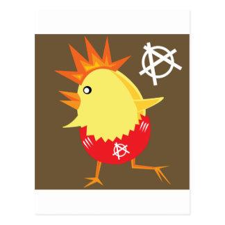 Punk Rock Chicken Postcard