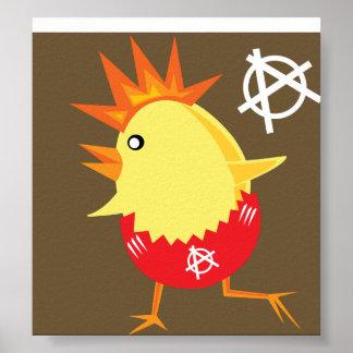 Punk Rock Chicken Print