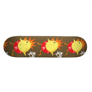 Punk Rock Chicken Skateboard