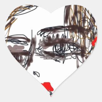 Punk Rock Girl Heart Sticker