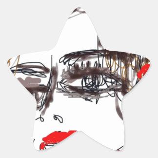 Punk Rock Girl Star Sticker