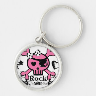 Punk Rock Girlie Skull Key Chain