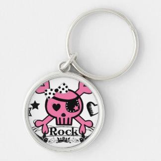 Punk Rock Girlie Skull Key Chain
